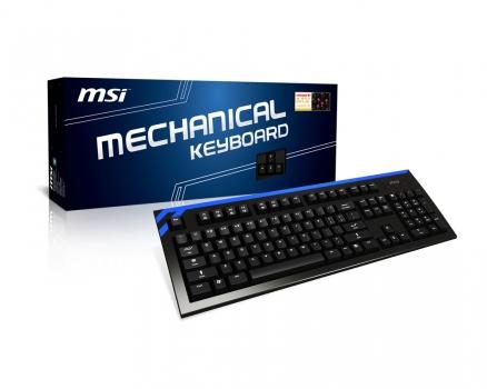 Teclado CK Series Mechanical Preto/Azul - MSI