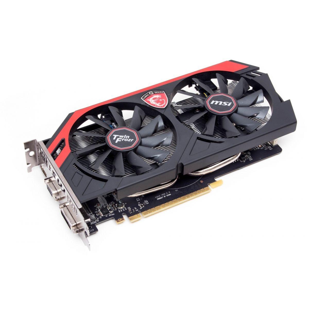 Placa de Vídeo Geforce GTX750Ti OC Edition Twin Gaming 2GB DDR5 128Bit N750Ti TF 2GD5/OC - MSI