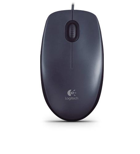 Mouse Optico M10 USB 1000 DPI Preto 910-003241 - Logitech