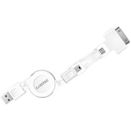 Cabo USB 2.0 Retrátil 3 em 1 9200 - Comtac