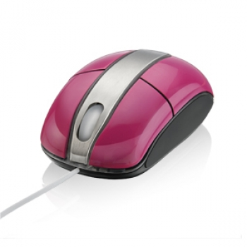 Mouse Steel Rosa Piano USB MO136 - Multilaser