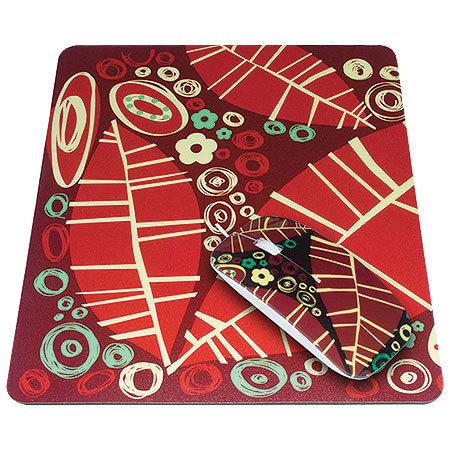 Kit Passion Mouse + Mouse Pad Florais 8799 - Leadership
