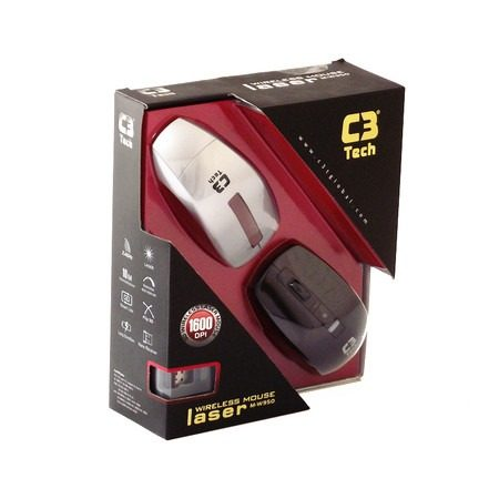 Mouse Laser M-W950 -2.4Ghz Tampa Intercambiável - C3tech