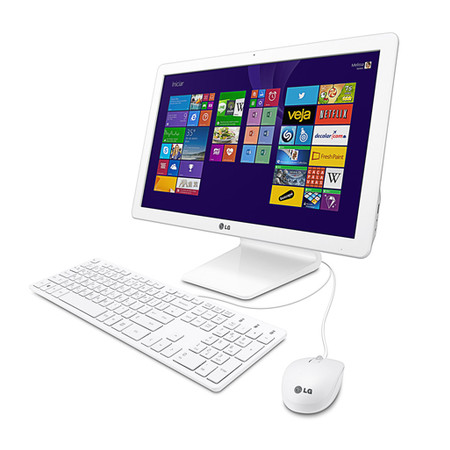 All in One Intel Quad Core N2910, 4GB, HD 500GB, Windows 8.1, Tela 21.5 IPS Full HD, Wi-Fi, Webcam 1.0MP 22V240 - LG