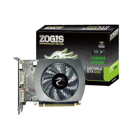 Placa de Vídeo GeForce GTX650 2GB DDR5 128bits ZOGTX650-2GD5H - Zogis