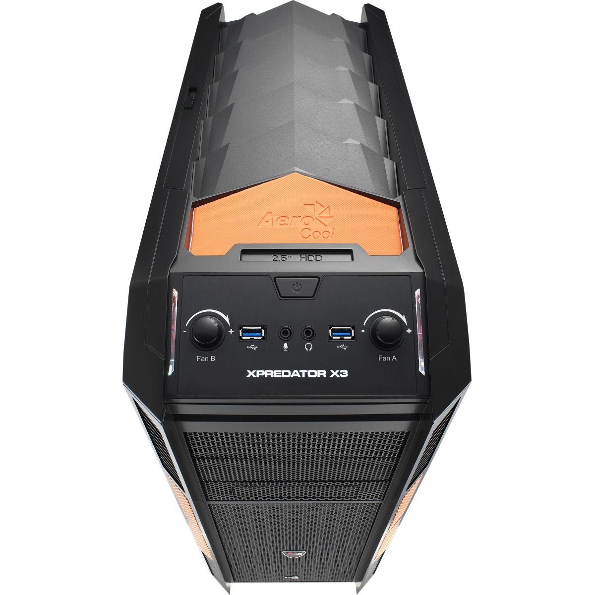 Gabinete ATX Xpredator X3 Evil Black EN57103 - Aerocool
