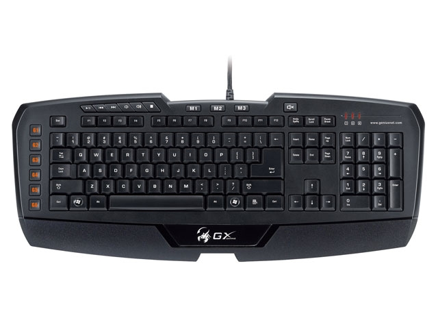 Teclado GX Gaming Imperator MMO/RTS 18 Program USB 31310052110 - Genius