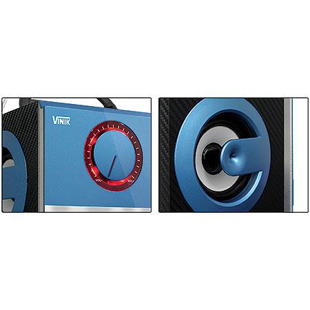 Caixa de Som Multimídia Portátil Soul Azul 18531 - Vinik