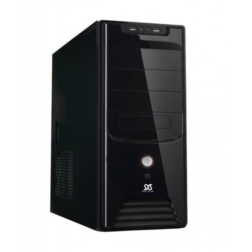 Gabinete ATX Micro Black P. USB Áudio 200W 2 Sata CCIGABI1512 - NewDrive