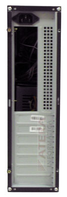 Gabinete ATX Torre Slim S101BS com Fonte 200W Preto/Prata - New Drive