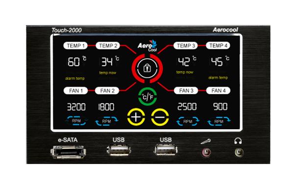 Controlador de Fan Touch 2000 EN55345 - Aerocool
