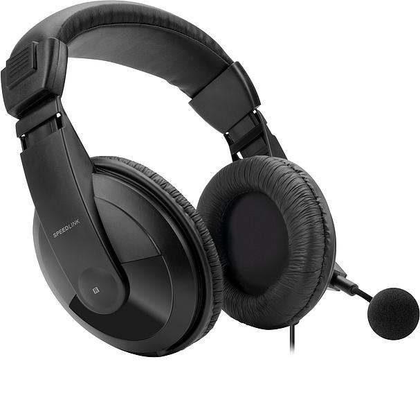 Headset TENURI Stereo para PS4 Black SL-4531-BK - Speedlink
