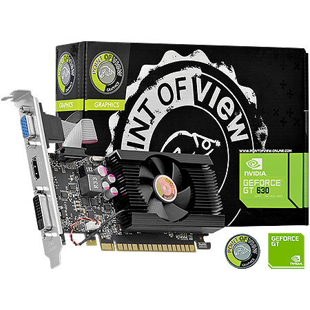 Placa de Vídeo Geforce GT630 2GB DDR3 128Bits VGA-630-C5-2048 - Point Of View