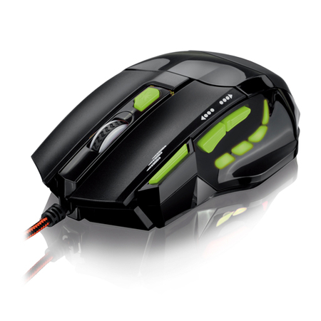 Mouse Gamer Óptico FireMouse 7 botões, 2400dpi, USB MO208 - Multilaser