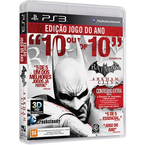 Jogo Batman Arkham City - Goty Edition - PS3