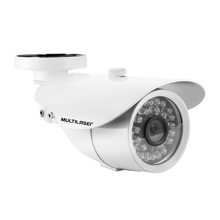 Câmera Externa Sensor Sony CCD 1/3 Infravermelho 25m Anti Vandalismo SE008 Branca - Multilaser
