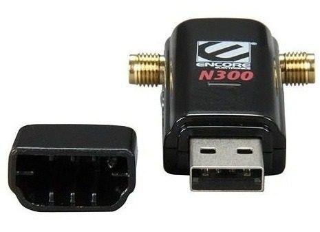 Adaptador USB Wireless 300Mbps c/ 02 Antenas de 5dbi Removíveis ENUWI-2XN45 - Encore