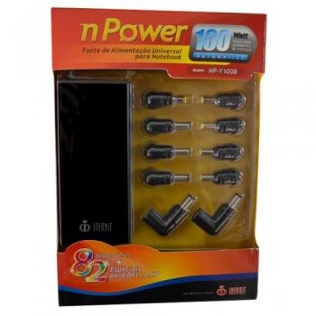 Fonte Universal Para Notebook Automática NPower 100W NP-Y100B - Infokit