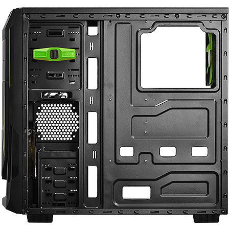 Gabinete ATX Mid Tower JAVA Verde 21497 - Pcyes