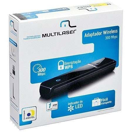 Adaptador Wireless 300Mbps Dongle RE044 - Multilaser