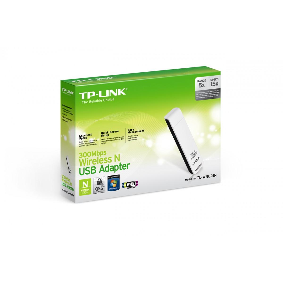 Adaptador Wireless USB TL-WN821N 300Mbps 802.11n - Tplink