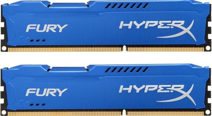 Memória 8GB 1600MHz DDR3 CL10 DIMM (Kit of 2) HyperX FURY Blue Series HX316C10FK2/8 - Kingston
