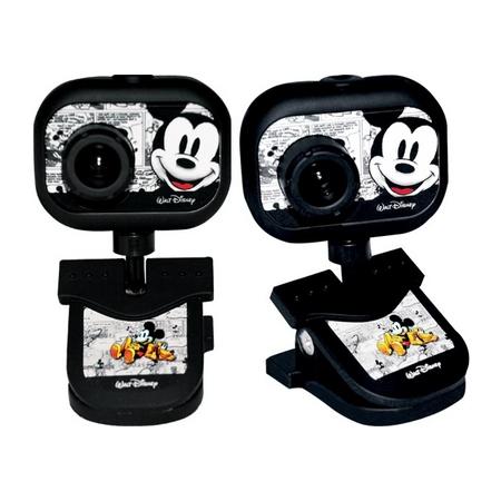 Webcam 2.0 MP USB Mickey 10024 Preta - Clone