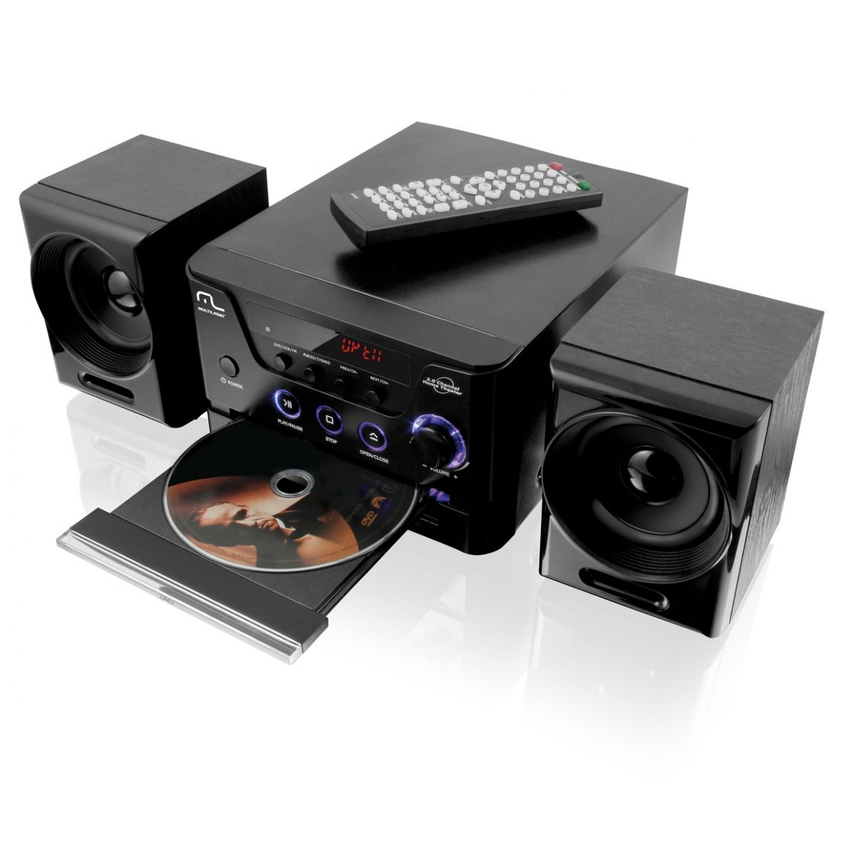 Caixa de Som Mini System com DVD/CD Player/USB/FM 30W RMS SP141 - Multilaser