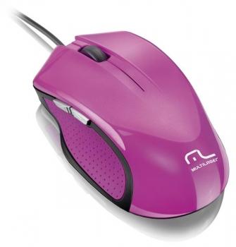 Mouse Laser XGAMER 2400DPI 6 Botões USB Rosa MO201 - Multilaser