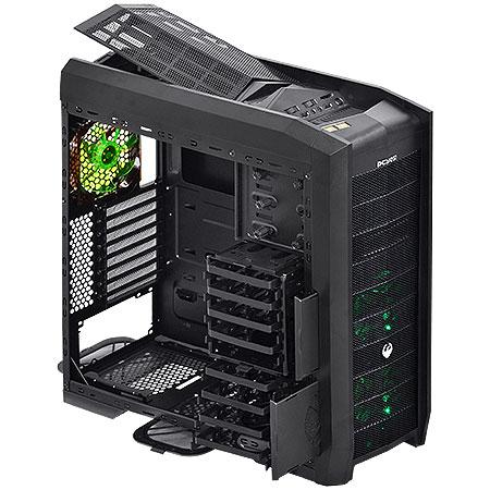 Gabinete Full Tower Gamer Dragon c/Led Verde 21496 - PCYES