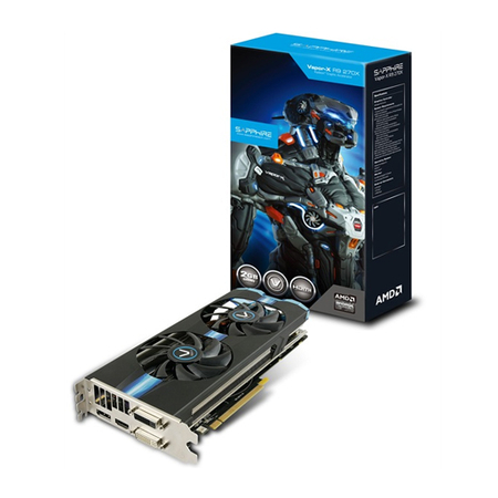Placa de Vídeo R9 270X Vapor X 2GB DDR5 256Bits 11217-00-20G - Shappire