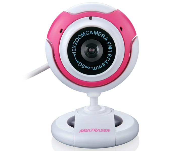WebCam New Vision Rosa Plug And Play WC042 - Multilaser