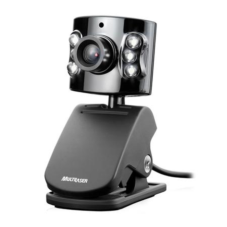 Webcam USB com Microfone 1.3MP Preta WC040 - Multilaser