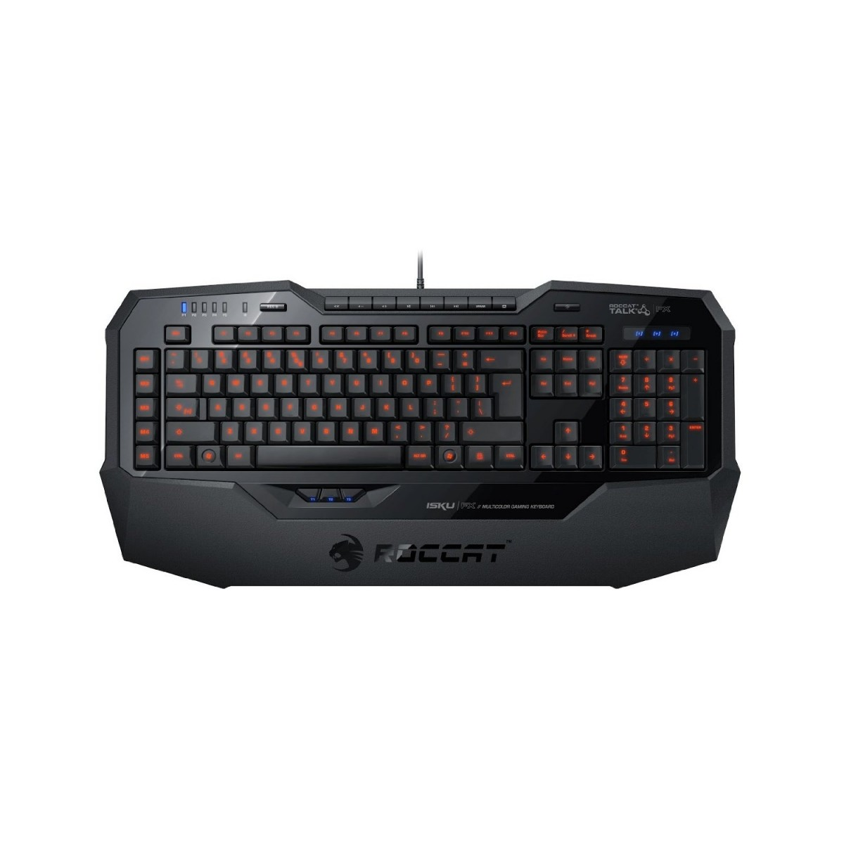 Teclado Gamer Multimidia ISKU FX LED Multicolor ROC-12-901 - Roccat