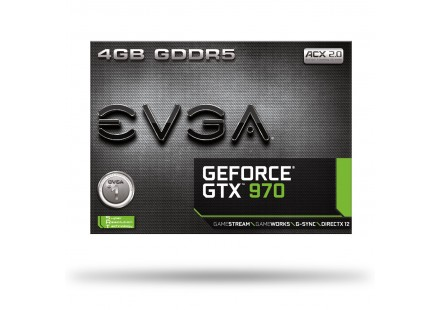 Placa de Vídeo Geforce GTX970 4GB GDDR5 256Bit 04G-P4-2972-KR - EVGA