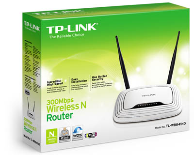 Roteador Wireless TL-WR841ND 300MBPS C/02 Antenas (Removivel) - Tplink