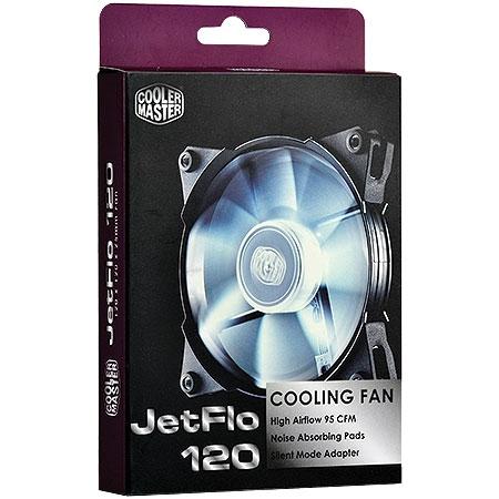 Cooler JetFlo 120mm LED Branco R4-JFDP-20PW-R1 (Alto Desempenho) - Coolermaster