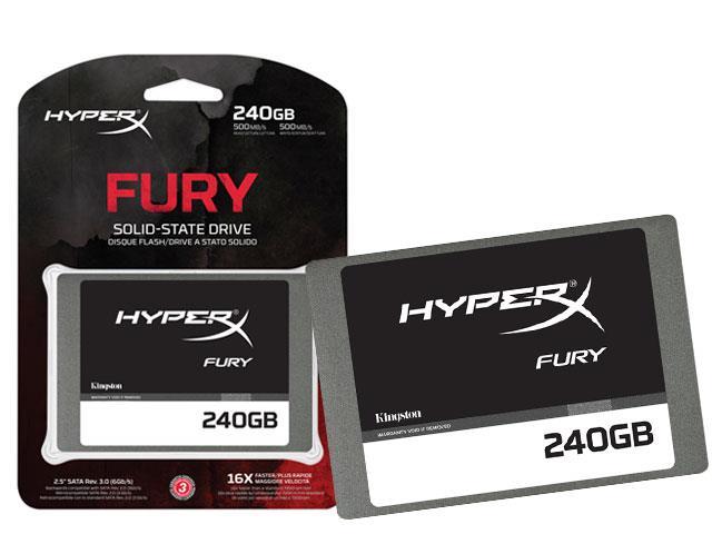 SSD Gamer Hyper X SHFS37A/240G Fury 240GB 2,5 Sata III Blister - Kingston