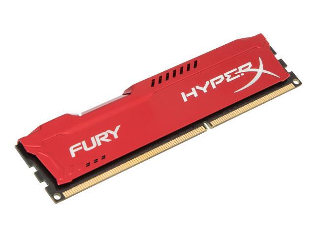 Memória 8GB 1600MHz DDR3 CL10 DIMM HyperX FURY Vermelha Series HX316C10FR/8 - Kingston