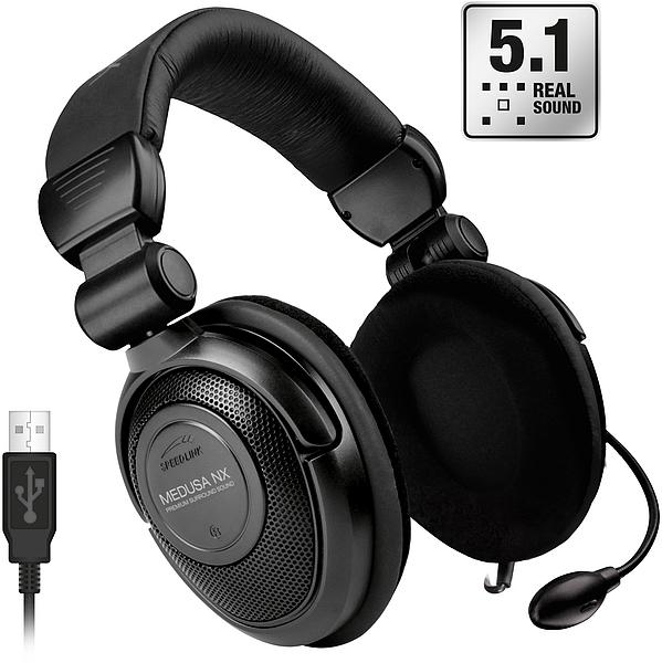 Headset Medusa NX 5.1 Preto USB SL-8795-SBK - Speedlink