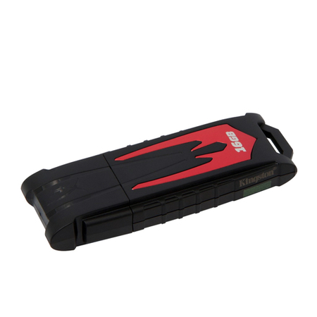 Pen Drive HyperX Fury 16GB USB 3.0 Preto/Vermelho HXF30/16GB - Kingston