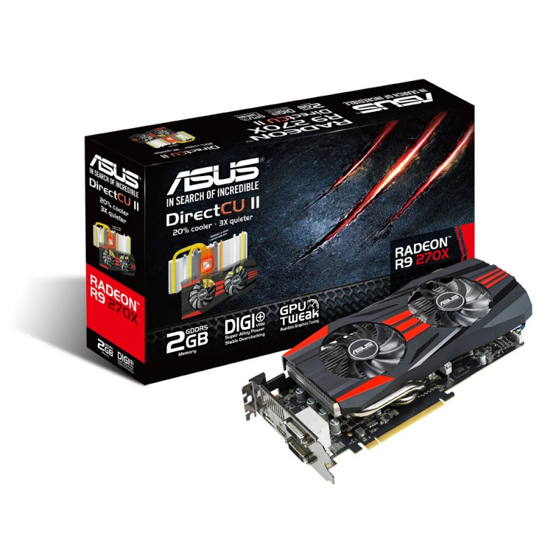 Placa de Vídeo R9 270 2GB DDR5 256Bits R9270-DC2-2GD5 - Asus