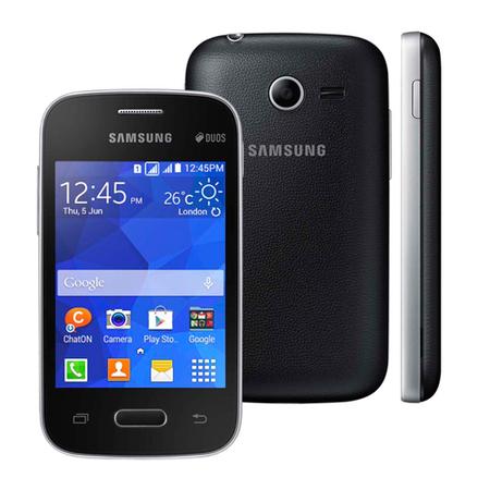 Smartphone Galaxy Pocket 2 Duos SM-G110B Preto, Android 4.4, Pro 1GHz, Tela 3.3,4GB,Câm 2MP, 3G - Samsung