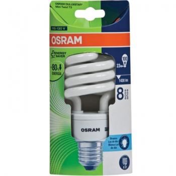 Lampada Eletronica 23W Duluxstar Mini Twist T3 23w/827 E27 - Osram