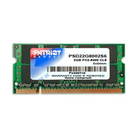 Memória para Notebook 2GB DDR2 800Mhz PSD22G8002S - Patriot