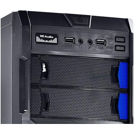 Gabinete ATX Gamer VS Typhoon Azul 22605 - Vinik