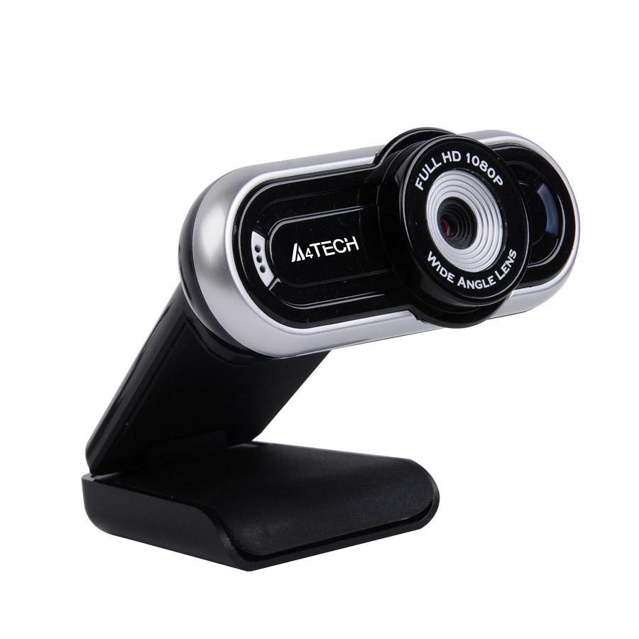 WebCam 16MP Full HD 1080p c/ Microfone PK-920H Preta/Prata - A4tech