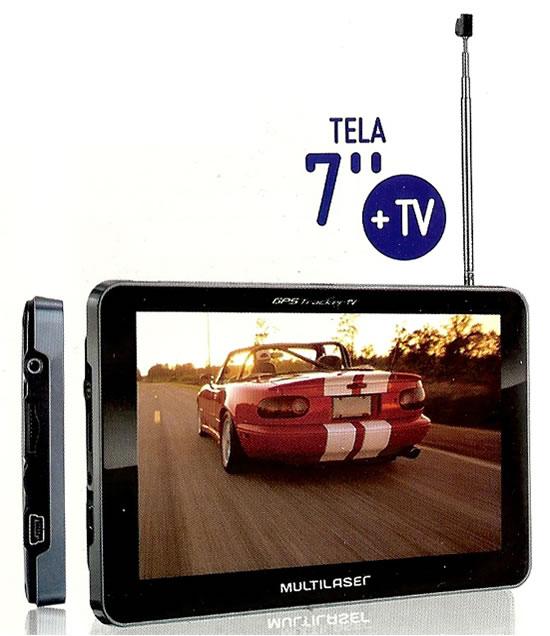 GPS Tracker 2 7 polegadas C/TV + FM GP015 - Multilaser