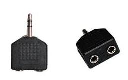 Adaptador de Áudio P2 3.5 para 2X3.5 P2 AD0191