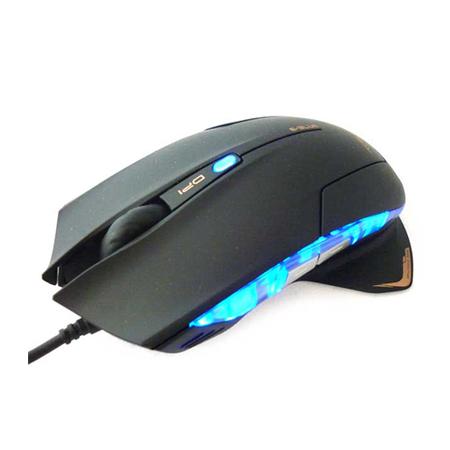 Mouse Gamer Óptico USB Mazer Type-R 2400DPI Preto  - Eblue